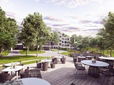 Výstavba Barrandez-vous odstartovala, projekt nabídne byty s parkem či kavárnou nejen pro osudová setkání