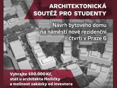 Central Group dá studentům možnost navrhnout část nové čtvrti v Praze 6. Soutěží se o 175 tisíc a stáž  u architekta Hniličky